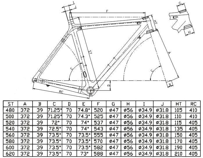 56cm bicycle frame stradalli rp14 carbon fiber road bike cycling bb30 700c