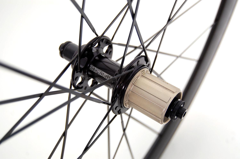 STRADALLI Full Carbon Road Bike Wheelset Black Aero Bicycle Wheels