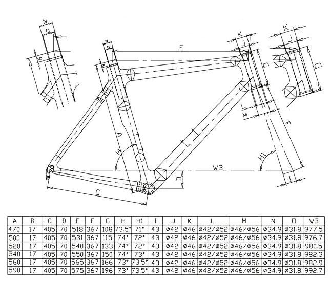 Trek Frame Size Chart - Page 5 - Frame Design & Reviews ✓